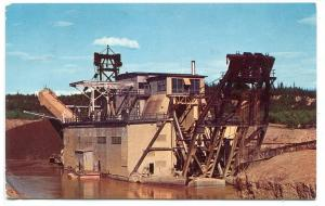 Gold Dredge Fairbanks Alaska 1960 postcard