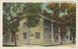 First Baptist Church, MANHATTAN, Kansas, 1930-1940s