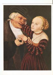 Postal 021947 : Old man and young woman, L. Cranach