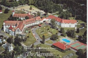 Aerial View of The Algonqiun, Canadian Pacific Hotels & Resorts, New Brunswic...
