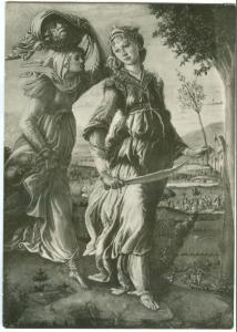 Italy, Firenze, Galleria Uffizi, Giuditta, Botticelli, unused RP Postcard