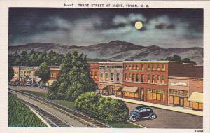 North Carolina Tryon Trade Street At Night