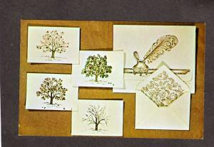 IA Tree Notes National Handcraft Institute Des Moines Iowa Postcard Advertising