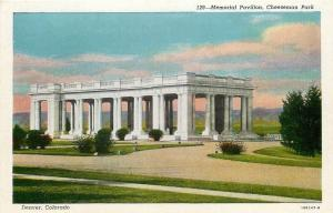 Denver Colorado~Memorial Pavilion~Open Greek Temple~White Marble Pillars~1930s