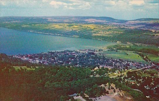 New York Watkins Glen Air View Of Seneca Lake And Watkins Glen