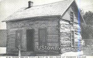 Elm Creek Indian Fort, 1869 Cowles NE Unused