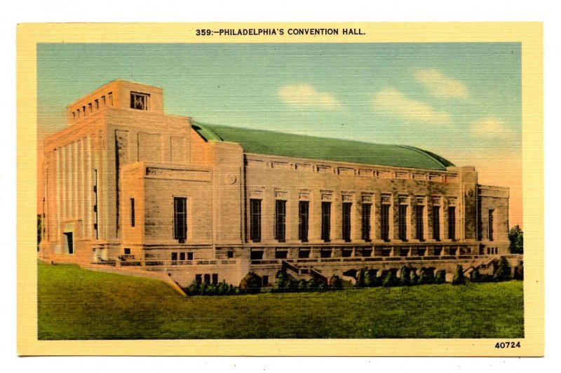 PA - Philadelphia. Convention Hall