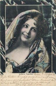 Art Nouveau Pretty Lady Portrait Vintage Postcard 06.70