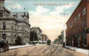 St. Thomas Ontario ON Talbot Street c1910 Postcard