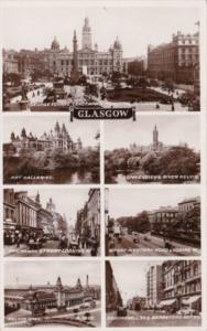 Scotland Glasgow Multi View Real Photo