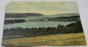Bird's Eye View, Showing Mt. Beaman, The Gap, and Bluenose Express, Digby, N. S