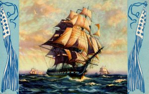 Painting -  US Frigate Constitution (Old Ironsides).   Artist: Gordon Grant