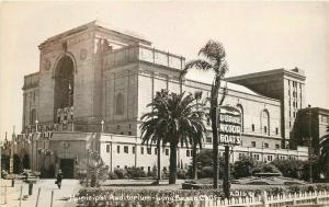 Long Beach California Municipal Auditorium 1940s RPPC Photo Postcard 109