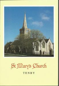 Postcard St Mary's Church TENBY Pembrokeshire Wales by Archway Publicity P237