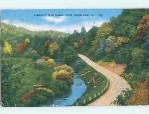 Linen RUSTIC SCENE Johnstown Pennsylvania PA hk3704