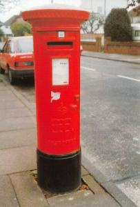 Goring by Sea Worthing Sussex Postcard, Edward VIII Pillar Post Box, History 15N