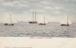 CHICAGO, Illinois, 1901-07; Sailing in Harbor