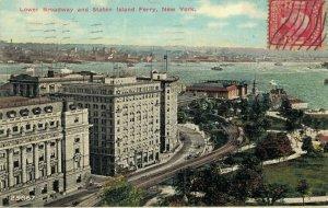 USA - Lower Broadway and Staten Island Ferry New York - 03.64