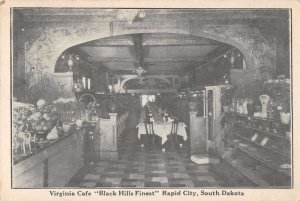 Rapid City South Dakota Virginia Cafe Interior View Vintage Postcard AA37574
