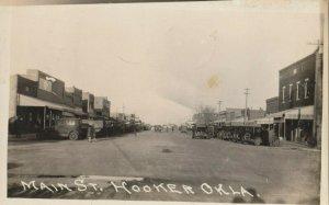 RP: HOOKER , Oklahoma , 1929 ; Main Street (dirt)