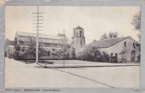 Exterior, City Hall, Woodland, California, PU-1947