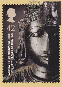 Indian Sculpture Of Parvati Limited Edition Postmark Frank Postcard