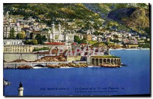 Old Postcard Monte Carlo Casino and the Pigeon Shooting