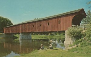 The West Montrose Covered Bridge Ontario Canada Postcard