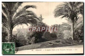 Old Postcard Grasse the Public Garden and the New Terraces