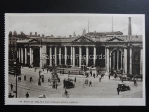 Ireland DUBLIN College Green & Bank of Ireland - Old Postcard by Woolstone Bros