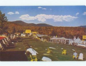 Pre-1980 postcard ad STERLING ALASKA FUR & GAME FARMS Lake Placid NY E7336