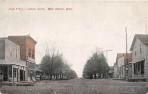 Michigan MI Postcard c1910 MONTGOMERY Main Street Looking South Stores