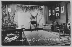 Pac Palisades California~Will Rogers Ranch Home Window~Real Photo Postcard~RPPC