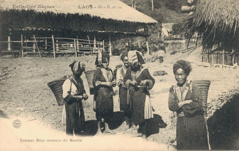 Indochine Collection Raquez Laos Femmes Meos revenant du Marche 03.75