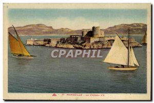 Marseille Old Postcard The Chateau d & # 39IF (boat)