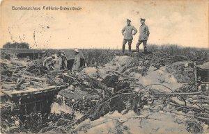 US3121 Bombensichere Artillerie Unterstande Ruins WW1  feldpost stengel