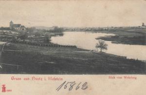 GRUSS AUS PREETZ I. HOLSTEIN, Germany, 1890s; Blick vom Wehrberg