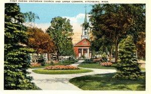 MA - Fitchburg. First Parish Unitarian Church & Upper Common