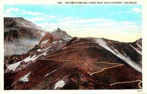 Colorado Pikes Peak Auto Highway The Switchbacks Curteich