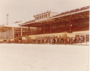 Buffalo Raceway Harness Horse Track , Winter 1977
