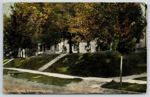 Greenspring Ohio~Couple at Peck's Cottages~Sulphur Spring Health Resort~1914