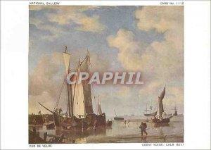 Postcard Modern National Gallery Van de Velde Coast Calm Scene