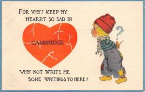 So Sad in Cambridge Iowa~Broken Heart~Why Not Write Me Here?~1915 Pennant PC