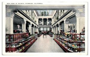 Home of Rouse's Store Interior, Riverside, CA Postcard *4W
