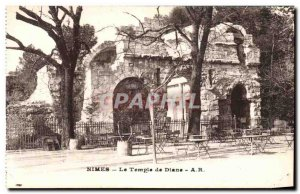 Old Postcard Nimes The Temple of Diana
