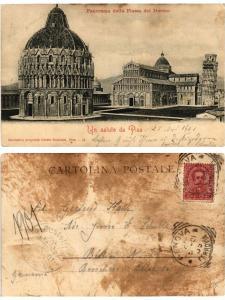 CPA Un Saluto da PISA Panorama della Piazza del Duomo. ITALY (467452)