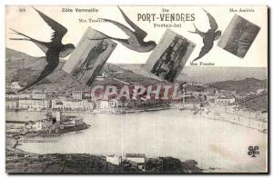 Old Postcard From Port Vendres Cote Vermeille Wear it Swallows