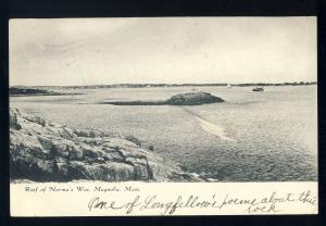 Magnolia, Massachusetts/MA/Mass Postcard, Reef Of Norman's Woe, 1908!