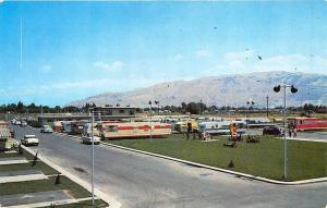 Salt Lake City UT National Trailer Sales Campground Early RV's Postcard