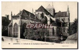 Old Postcard Lisieux L & # 39Abside the Cathedrale Saint Pierre